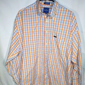 Faconnable Orange/Blue/White Flannel